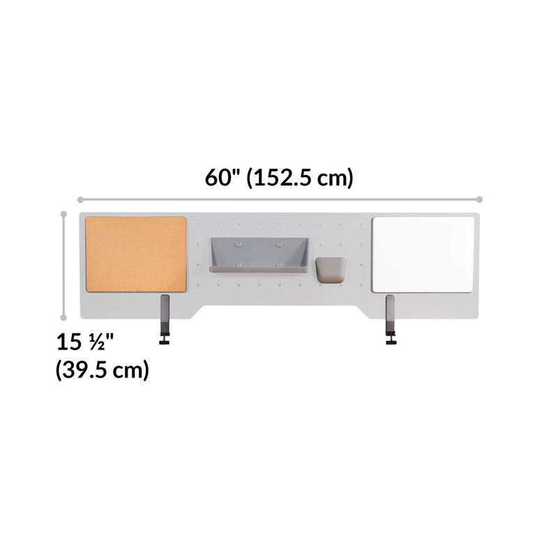 acrylic accessory panel is 60 inches wide and 15 and a half inches tall  image number null