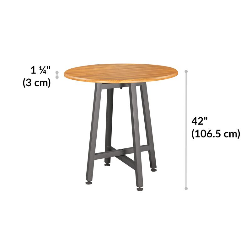 Standing Round Table Butcher Block is 42 inches tall image number null