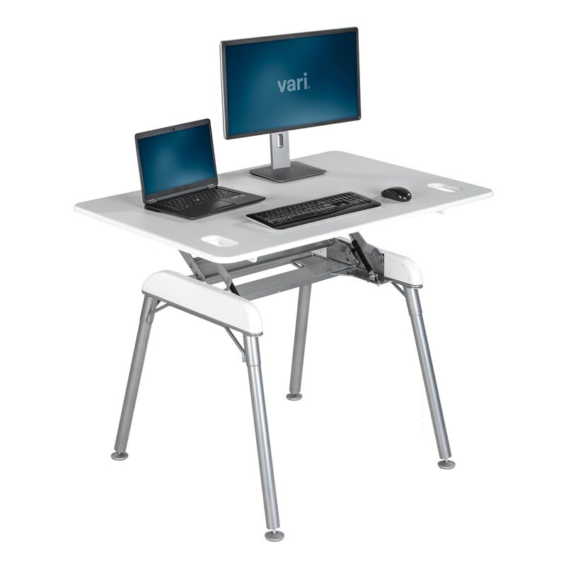 Standing Desk 48x32 White in raised position image number null