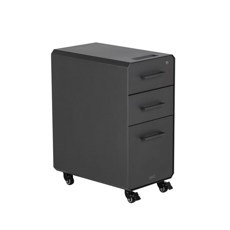 Vari Slim File Cabinet in Slate  image number null