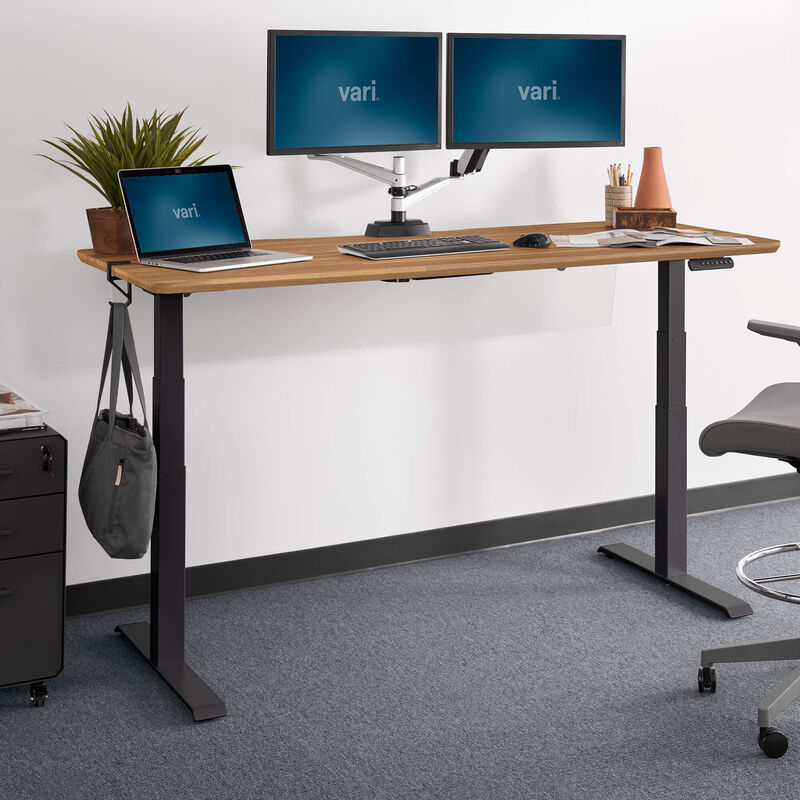 Electric standing desk 72x30 raised in office image number null