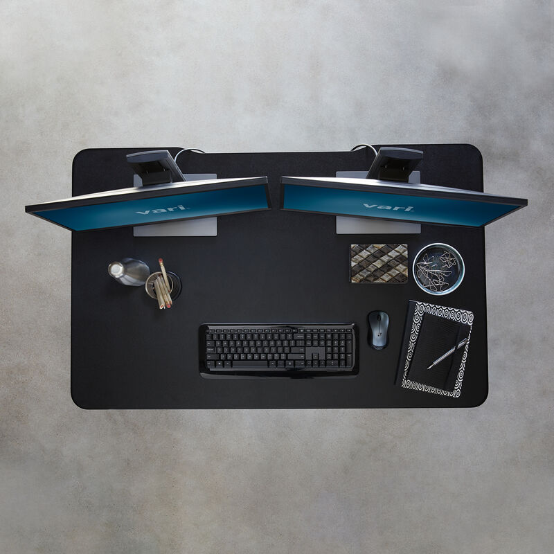 Overhead view of Electric Standing Desk 48x30 Black image number null