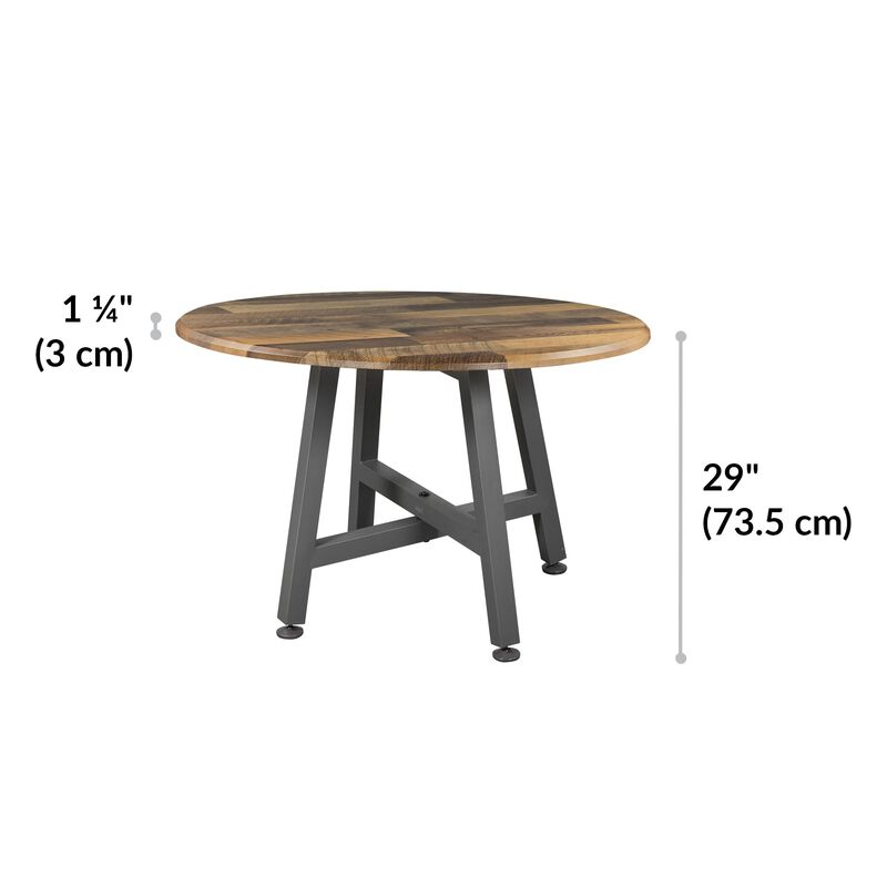 Round Table Reclaimed Wood is 29 inches tall image number null
