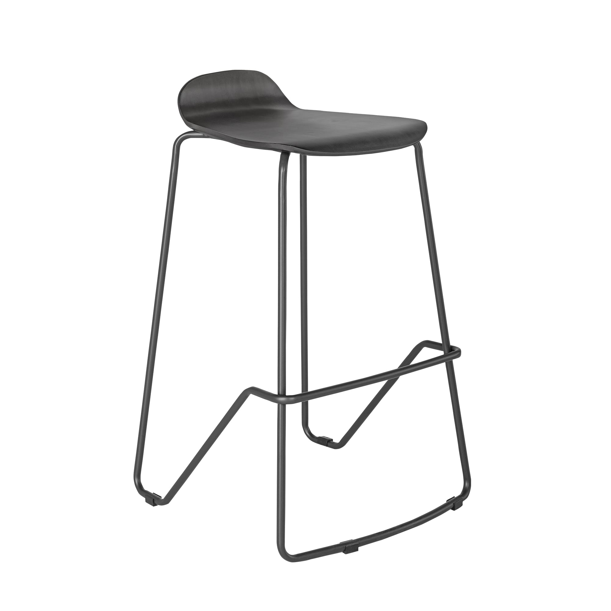 Wood Conference Stool Slate