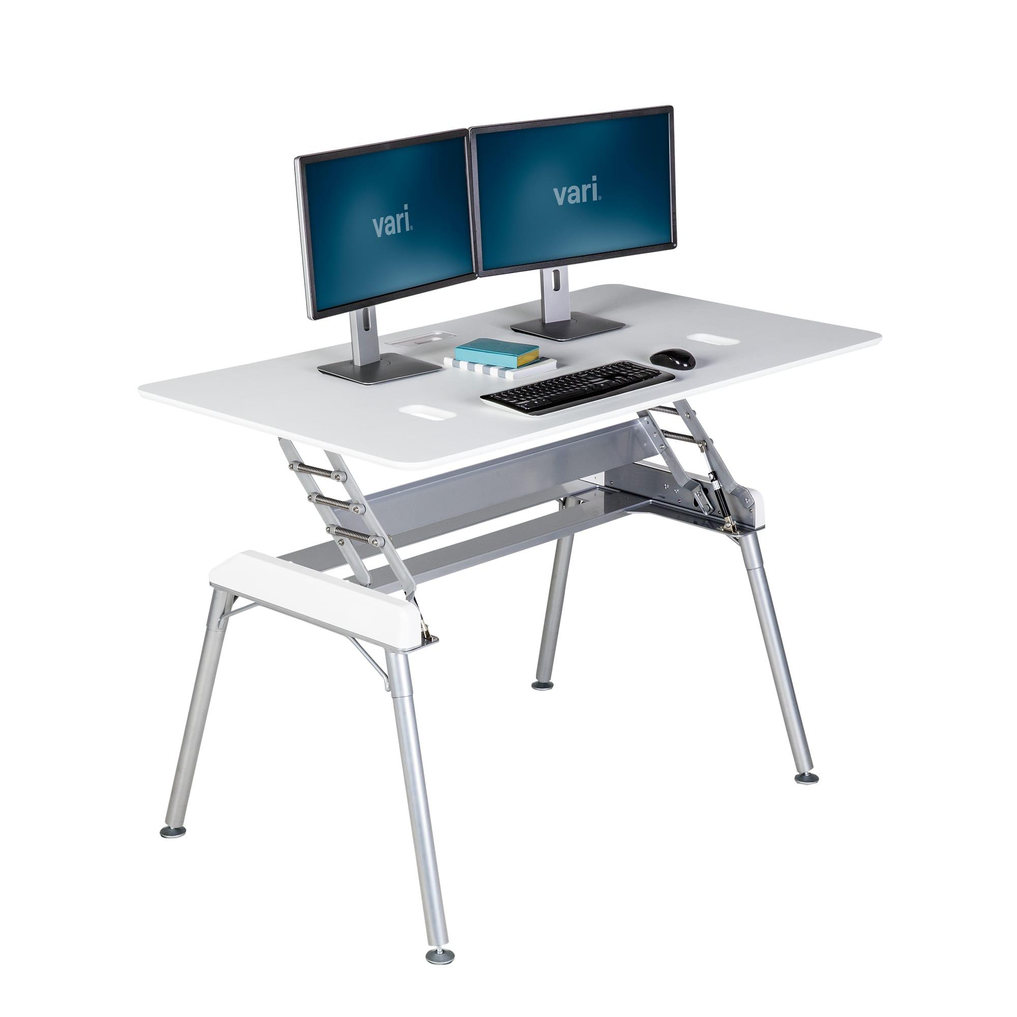 standing desk 60x34 white