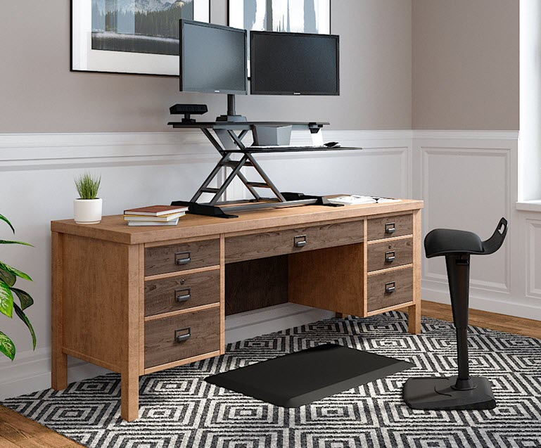 vari work from home setups in home office