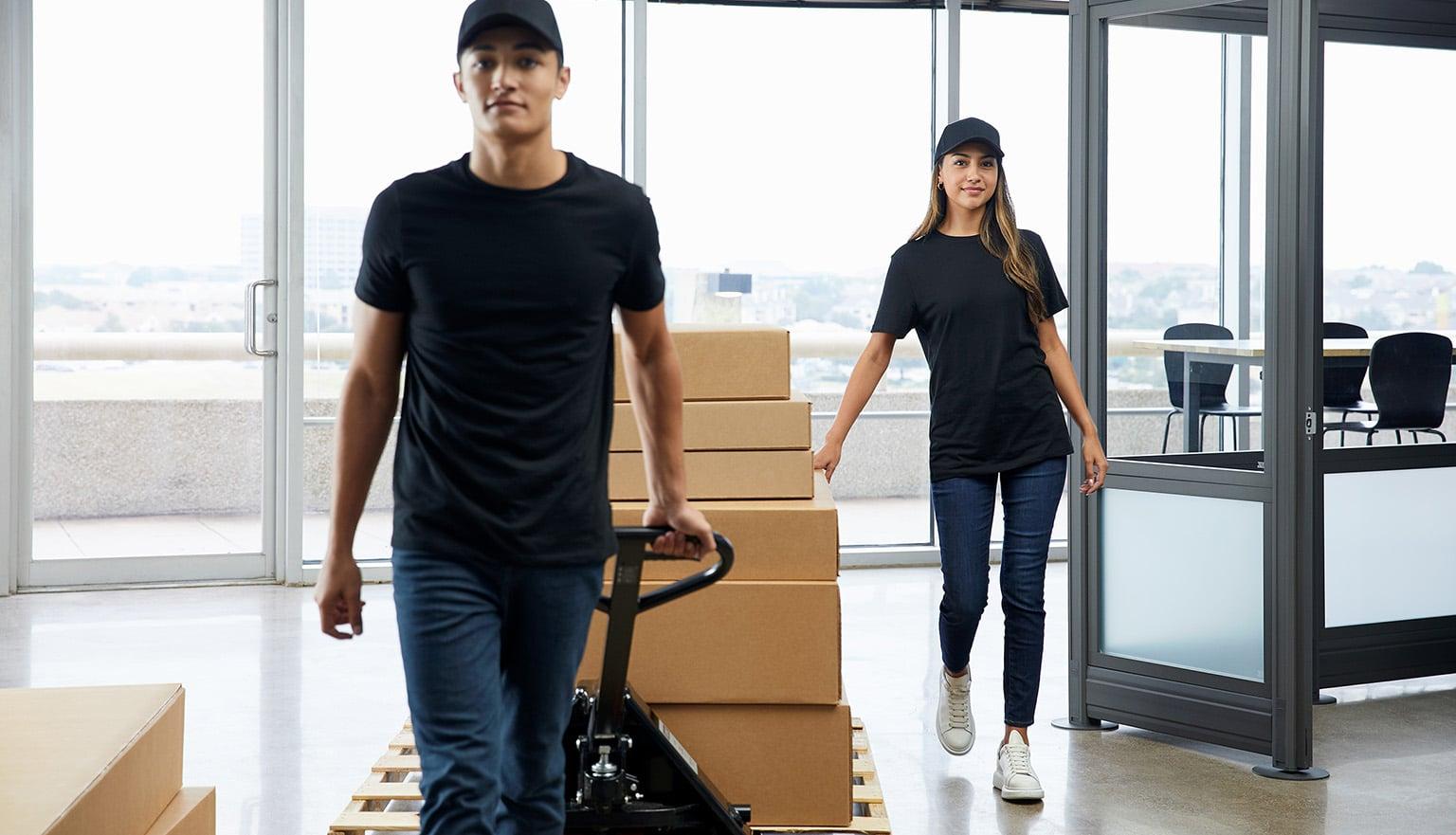 vari install team delivers office furniture