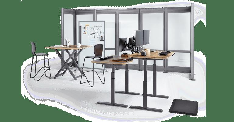 Vari flexible workspace solutions, standing desks, and accessories