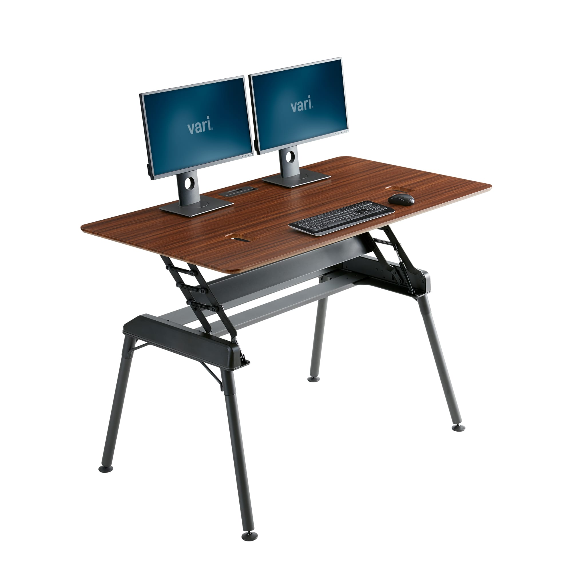 standing desk 60x34 darkwood