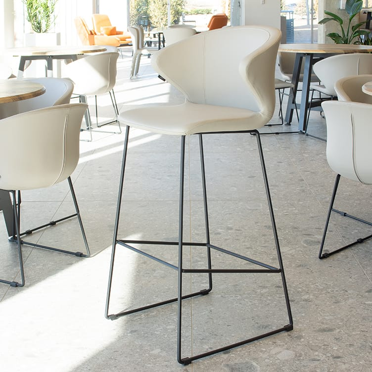 tall cafe chair in office breakroom