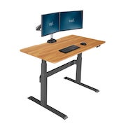 Electric Standing Desk 48x30 in Butcher Block